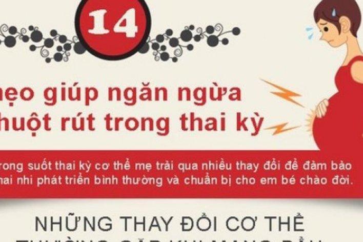 Bí Quyết Ngăn Ngừa Chuột Rút Cho Mẹ Bầu