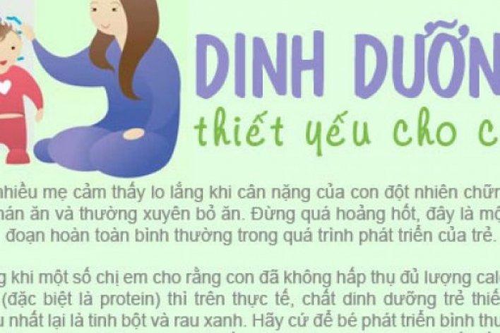 DINH DƯỠNG CHO TRẺ ĂN MÃI MÀ KHÔNG TĂNG CÂN