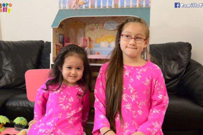 Hai Chị Em Mặc Áo Cặp Hát Vùng Lá Me Bay/ Duyên Phận Dễ Cưng Quá