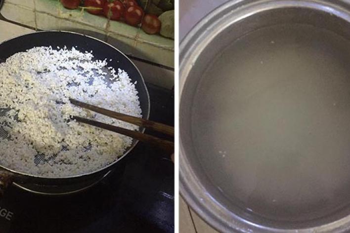 Cách làm nước gạo uống sau 1 ngày, sữa lập tức về căng cứng, chảy ướt áo mẹ