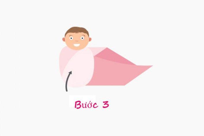 5 Bước Quấn Tã Cho trẻ Sơ Sinh Giúp Trẻ Ngủ Ngoan Không Giật Mình