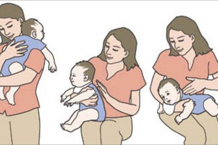 Hướng Dẫn Mẹ Cách Cho Bé Ợ Hơi Sau Khi Bú